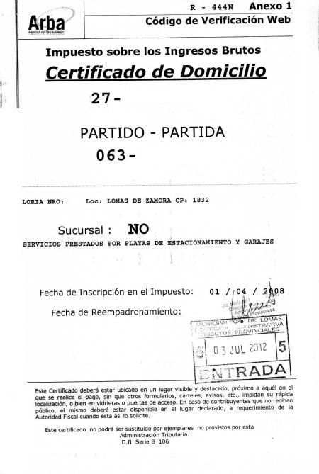 Gu a de tr mites lomas de zamora for Inscripcion ingresos brutos