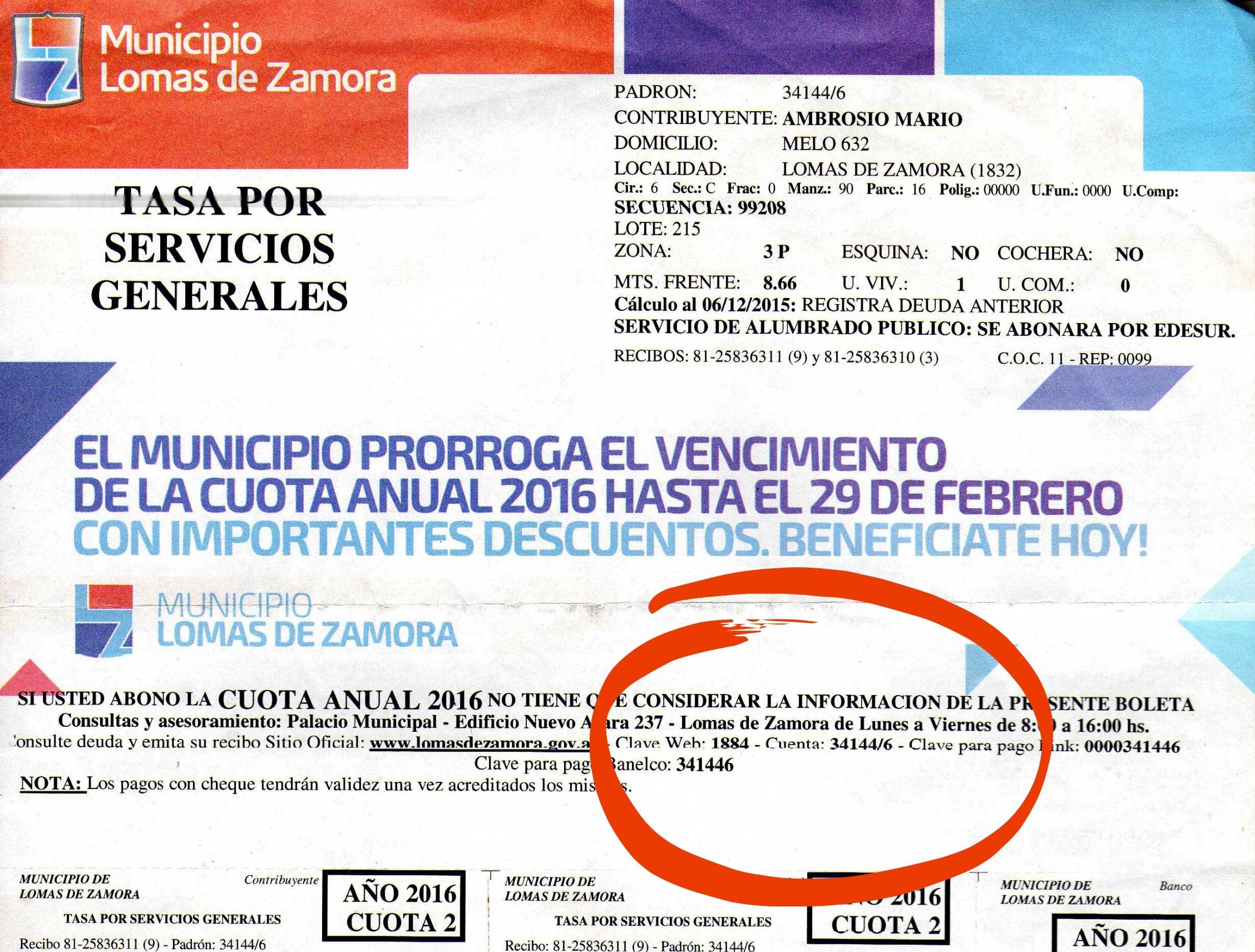 Guía de trámites Lomas de Zamora