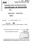 Certificado de domicilio con sello y firma del Director
